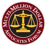Logo of Multi-Million Dollar Advocates Forum Recognizing RG Injury Law in Lancaster PA