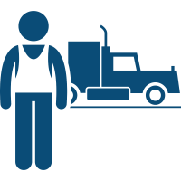 Truck Accident Icon - Consult with our Lancaster lawyers about your commercial vehicle tractor trailer truck accident case. 717.656.5000.