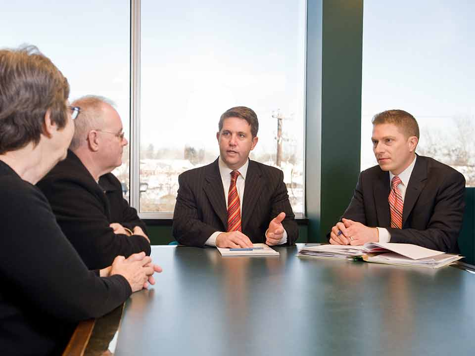 Personal Injury Attorneys Chad Rankin and Bill Gregory Talk with Clients in PA