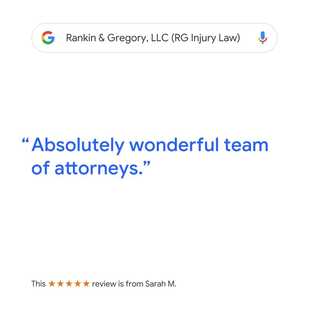 Google Review of RG Injury Law - Wonderful Team of Attorneys