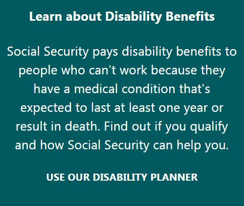 Access Social Security's Disability Planner