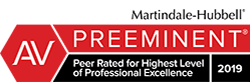 AV Preeminent Peer Rating of Professional Excellence