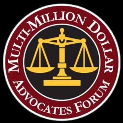 Logo of Multi-Million Dollar Advocates Forum Recognizing RG Injury Law in Lancaster PA