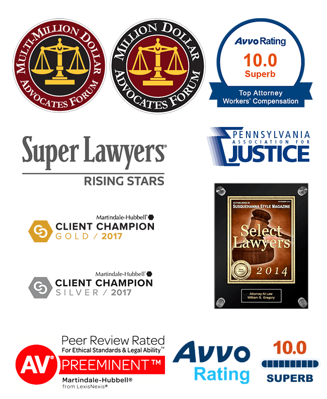 RG Injury Law - One of the Best Firms in Lancaster - Awards & Credentials - Attorneys Rankin & Gregory